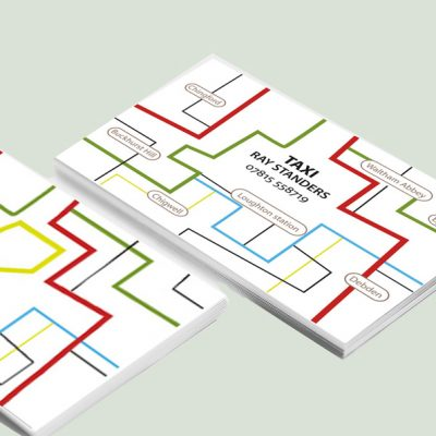 I was asked to design a business card for a London cabbie. It had to include names of the main areas he operates at.