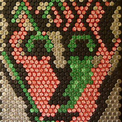 You. Bottle Cap  Art. Size: 75 x 100 cm. Created 2010.